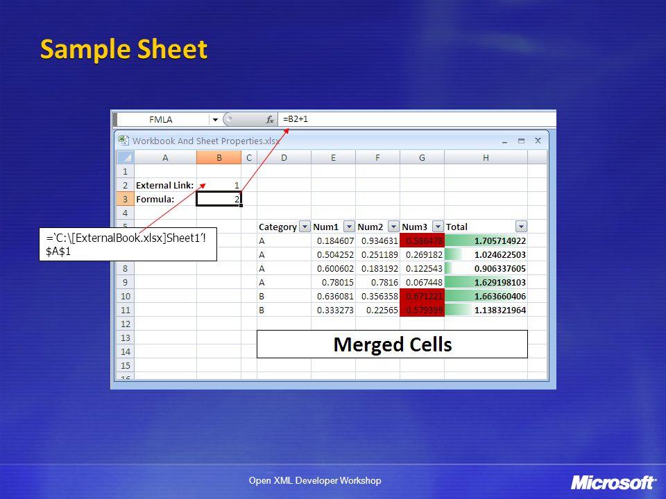 Sample Sheet ='C:\[ExternalBook.xlsx]Sheet1'!$A$1